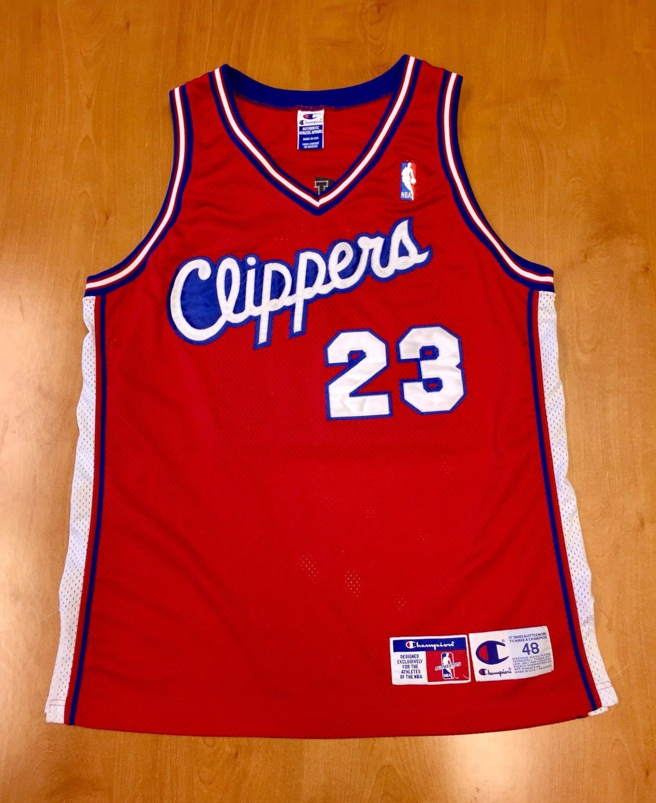 c4d6b939605741 Vintage 1997 Maurice Taylor Los Angeles Clippers Authentic Champion Jersey  Size 48 la michigan pooh quentin richardson michael olowankandi by ...