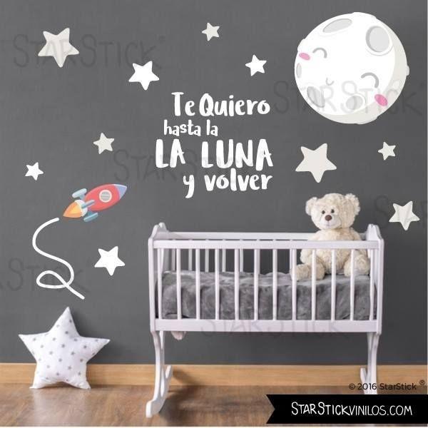 Papel pintado y cortinas a juego room baby ideas para for Vinilo habitacion bebe nina