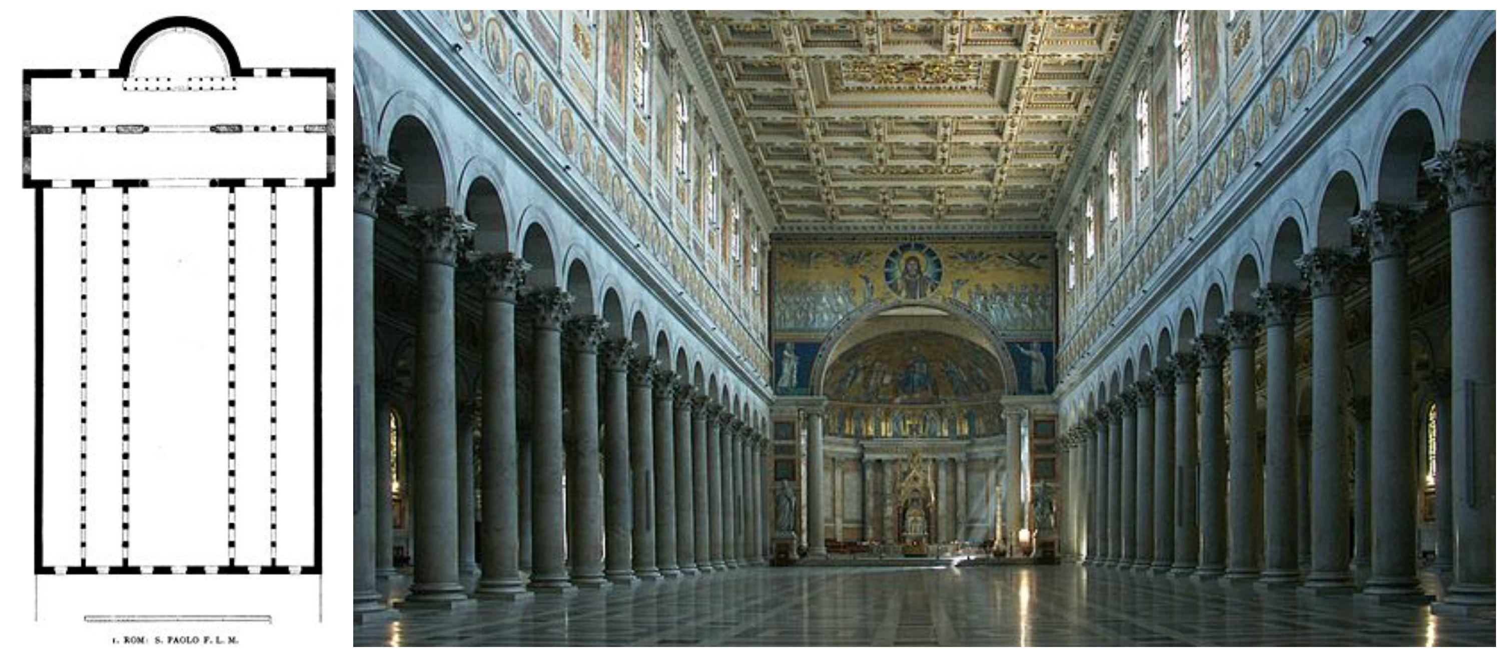 Pianta E Interno Della Basilica Di San Paolo Fuori Le Mura é La Seconda Chiesa Papale Piú Grande Dopo San Pietro Fu Edifi Rinascimento Italiano Chiesa Luoghi