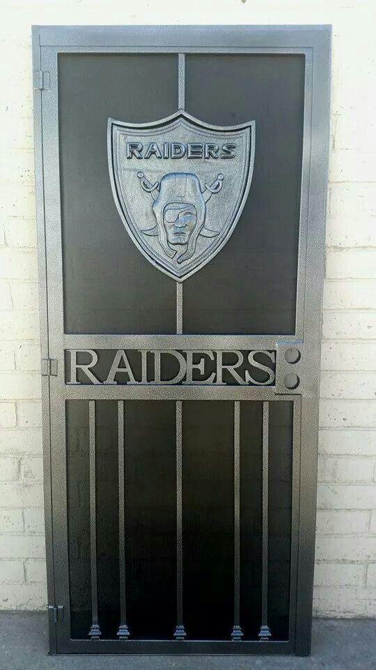 Raiders Wrought Iron Door I Want One Raiders Oakland Raiders