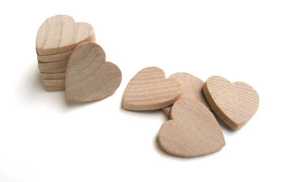25 Unfinished Wooden Hearts 1 Inch 25 Mm Mini Wood Hearts Perfect For Weddings Wood Hearts Wooden