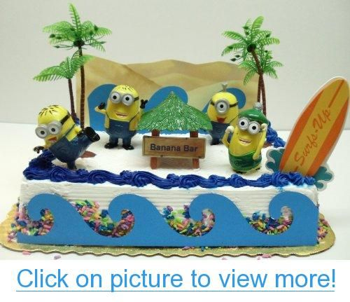 Enjoyable Despicable Me Banana Bar Beach Scene Minion Birthday Cake Topper Personalised Birthday Cards Cominlily Jamesorg