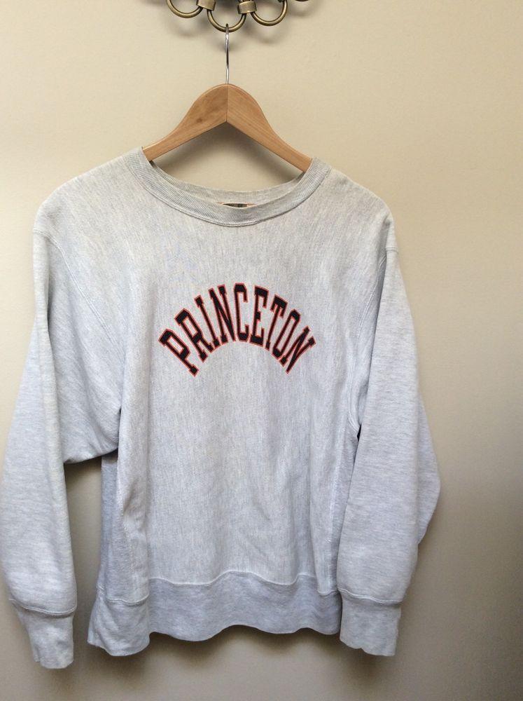 db3da15a76a Vintage 80s Champion PRINCETON UNIVERSITY Gray Sweatshirt Mens Large Womens  XL