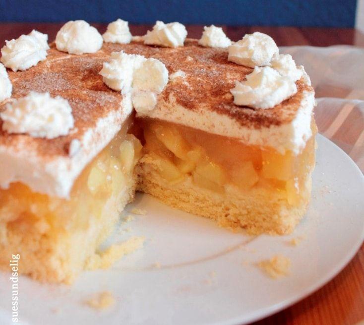 Apfel Sahne Torte Mit Pudding Rezept Kuchen Und Torten Apfelkuchen Rezept Und Backen
