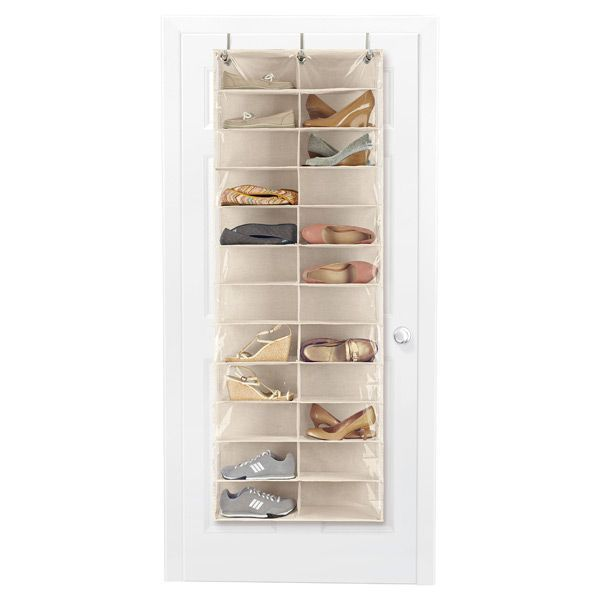24 Pocket Overdoor Shoe Organizer Natural | $29.99