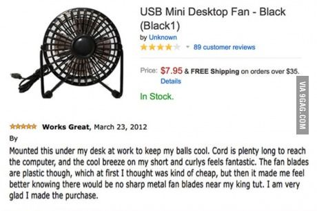 USB mini fan.