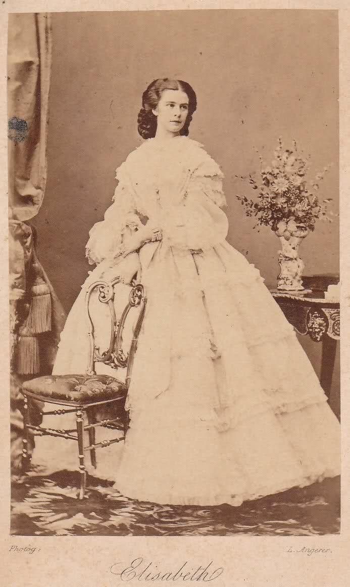 Empress Elisabeth of Austria. Photographer: Ludwig Angerer [15.08.1827 – † 12.05.1879]