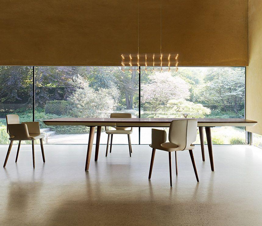 Herringbone Dining Table Expandable Table Scandinavian Table