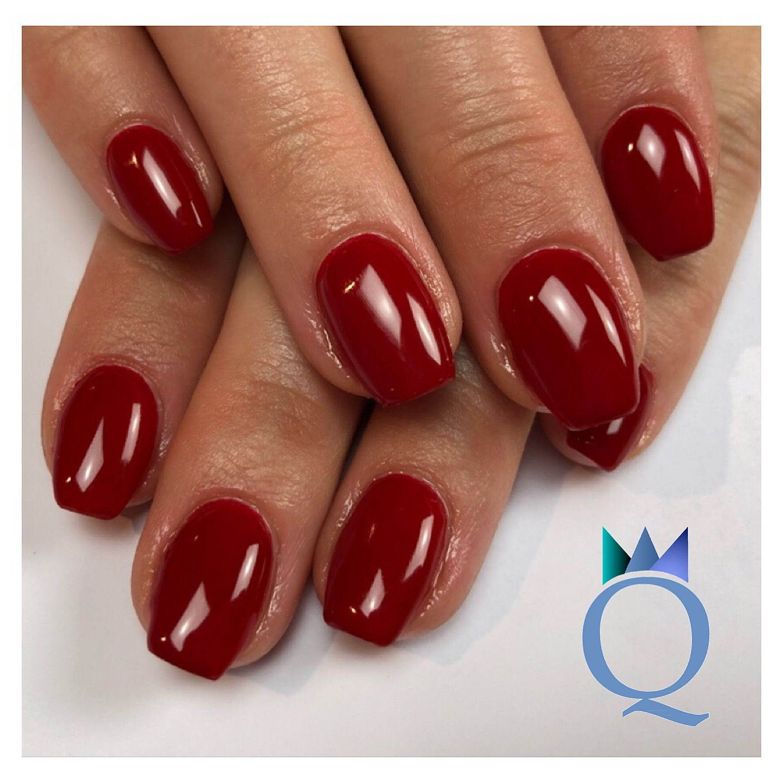 Bezaubernd Nageldesign Rot Galerie Von #coffinnails #gelnails #nails #red #ballerinaform #gelnägel #nägel