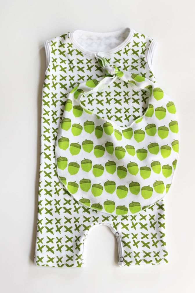 Adorable Little Hip Squeaks romper and bib