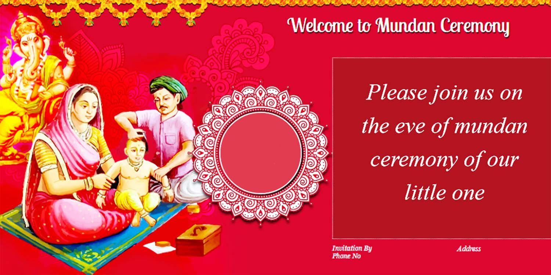 Mundan Ceremony Invitation Quotes Card Design And Wordings