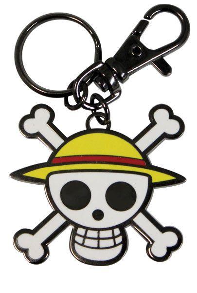 b8094ae264345 Llavero One Piece. Jolly Roger Llavero metálico con la imagen de la  calavera pirata perteneciente a la tripulación del Sombrero de paja