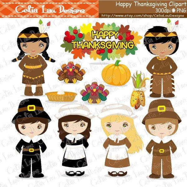 thanksgiving clipart turkey clipart pilgrim clipart indian rh pinterest co uk Give Thanks Clip Art pilgrim and indian clipart