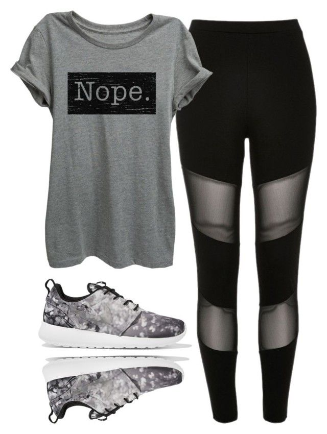 """""""."""" by anacxrros on Polyvore featuring River Island and NIKE"""