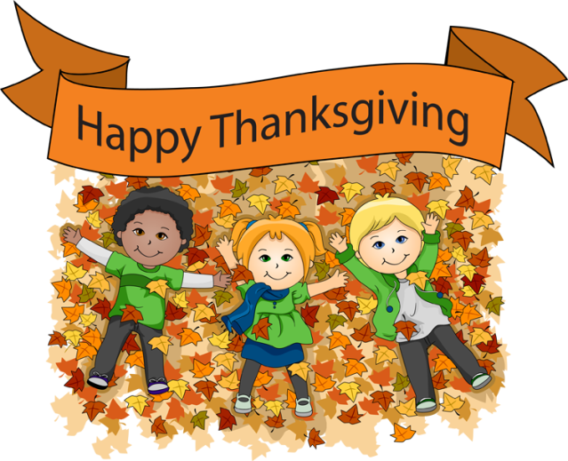 2013 Thanksgiving Clip Art Thanksgiving Kids Playing In Leaves