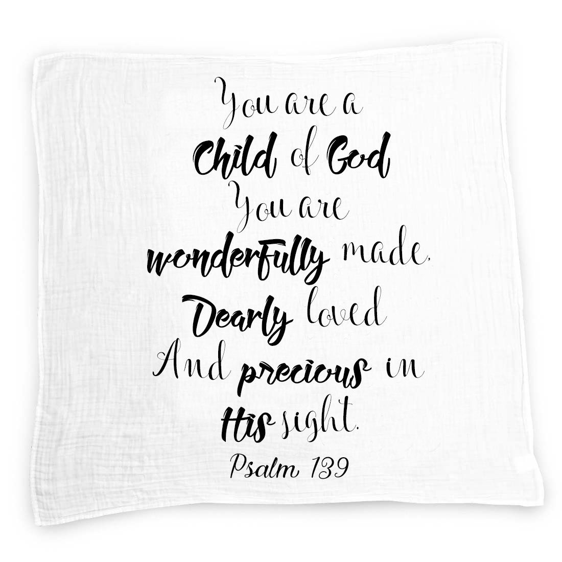 Child Of God Baby Swaddle Blanket By Ocean Drop Designs Muslin