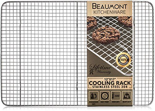 Beaumont Kitchenware Top Rated Bakingcooling Rack Heavy Duty Grids