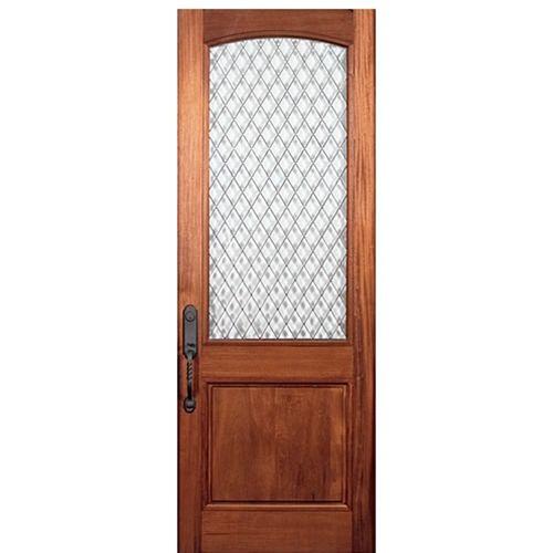 Mai Doors A79gb 1 Alpine Square Top Half Lite Panel Bottom Door In Walnut Beveled Glass Doors Entry Doors With Glass Solid Wood Entry Doors