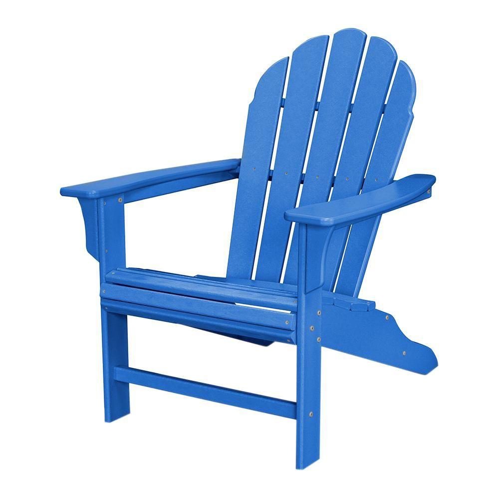 Trex outdoor furniture hd pacific blue patio adirondack chair blue