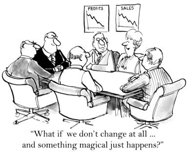 Humor: BA Leading Change in the Organization | Business cartoons, Change  management, Business management