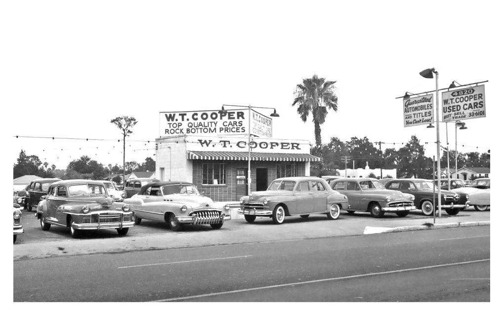 1952 W.T. Cooper Used Cars Dealership, Tampa, Florida
