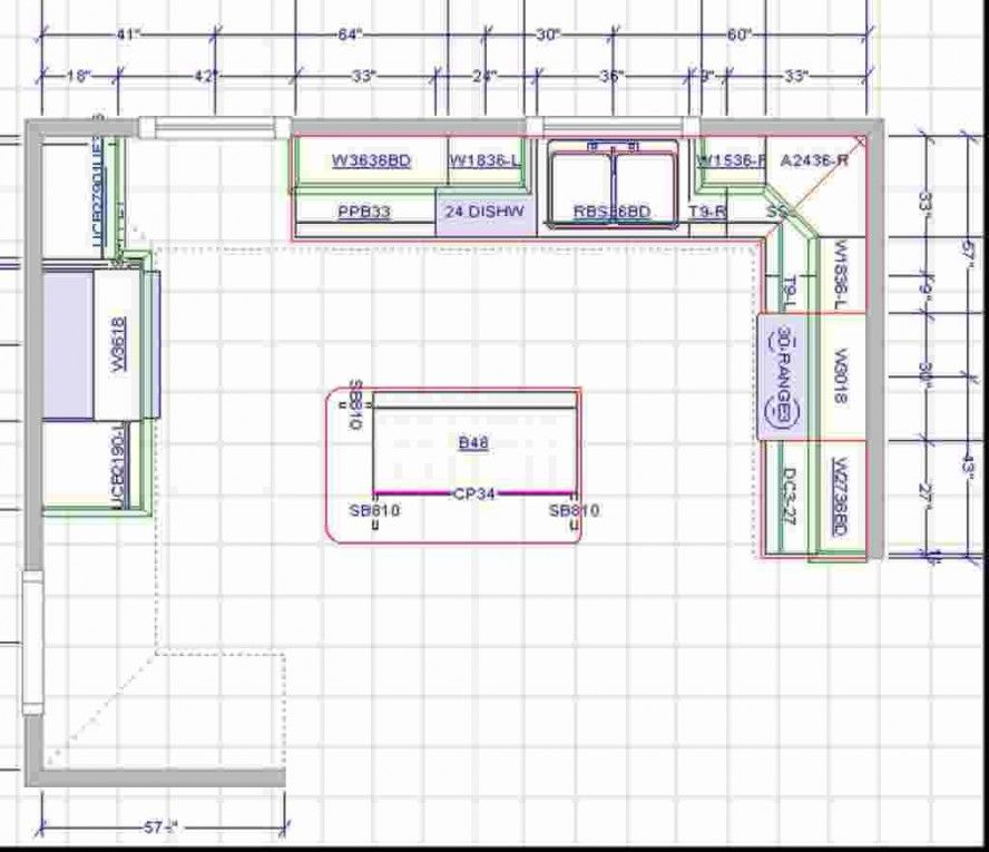 Kitchen Island Floor Plan 15x15 kitchen layout with island | brilliant kitchen floor plans