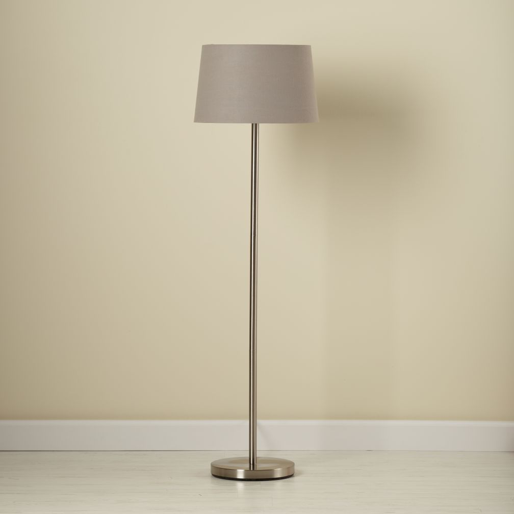 Light Years Floor Lamp Base Nickel The Land Of Nod
