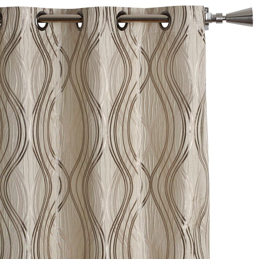 Grayson silver gray jacquard fabric cloth bathroom bath shower curtain - Grayson Silver Gray Jacquard Fabric Cloth Bathroom Bath Shower Curtain 37