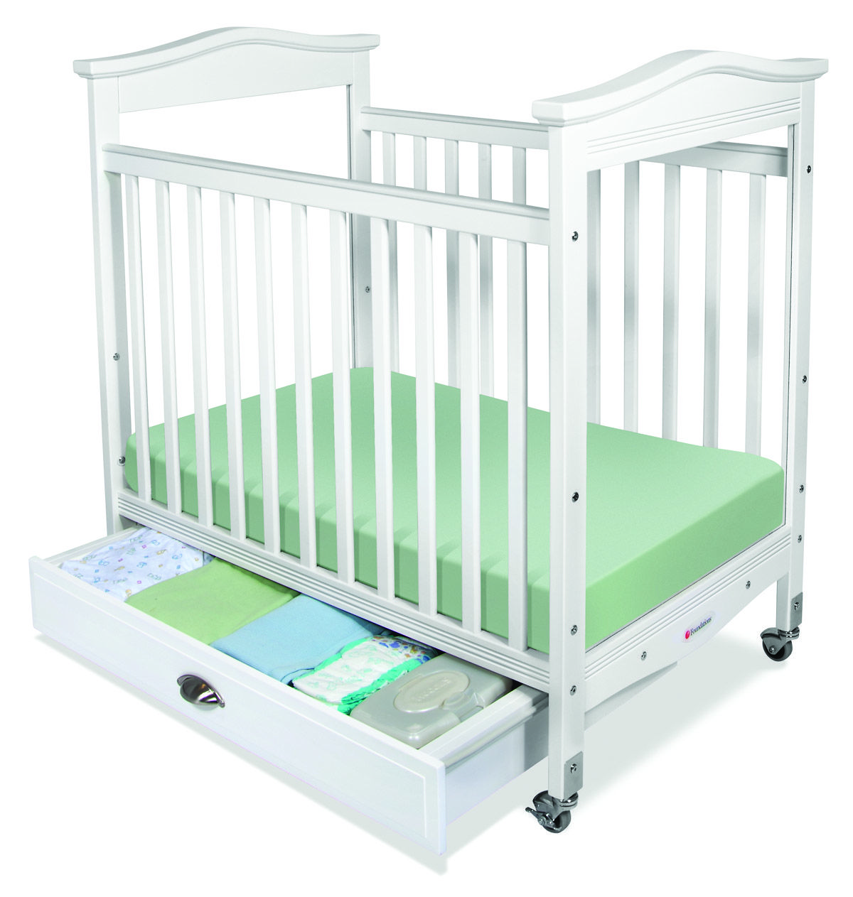 Crib heights for babies - Biltmore White Fixed Side Compact Baby Crib Adjustable Bed Height Clearview Cribs