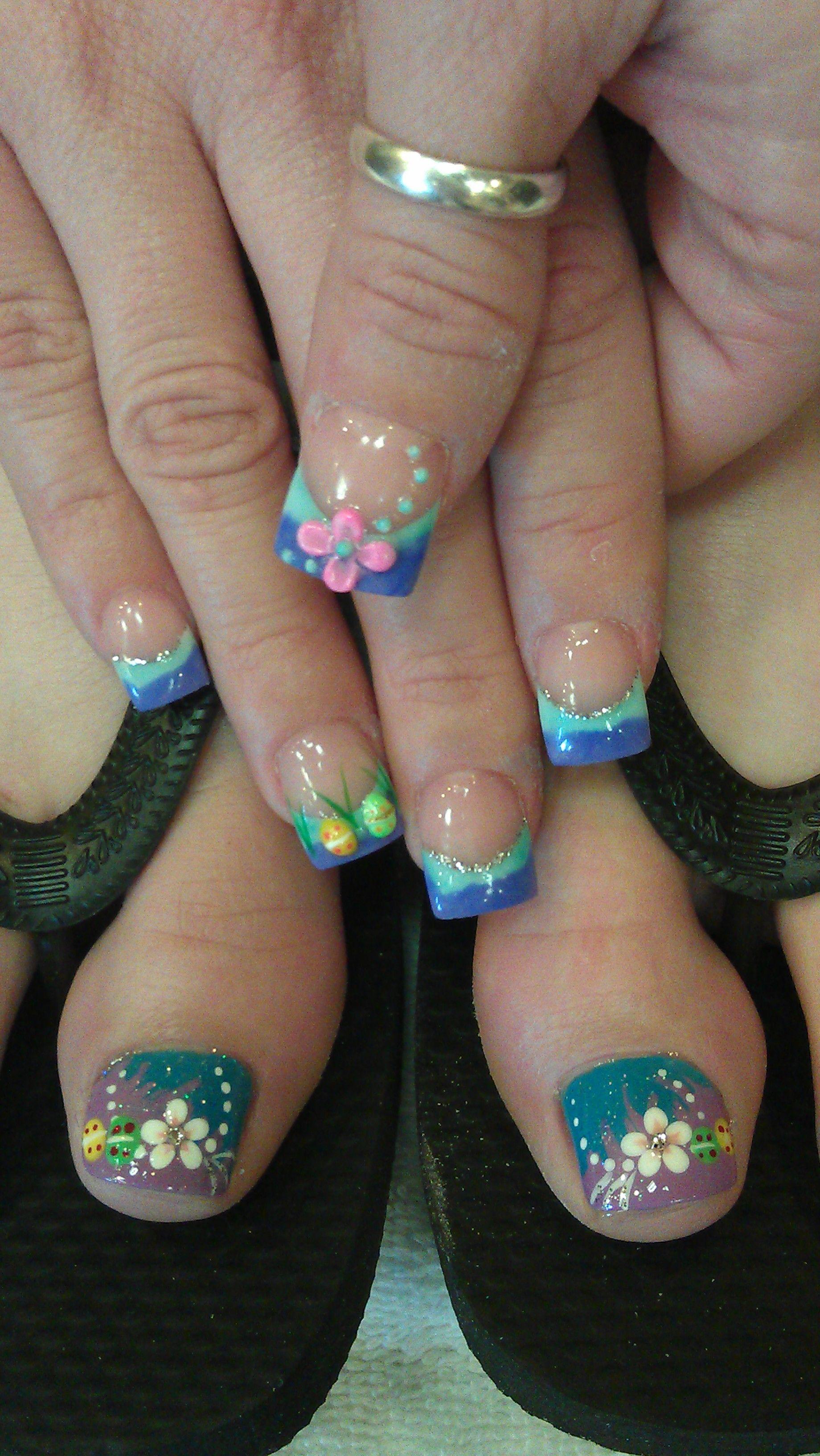 Spring Nails and Toes.   Uñas manos y pies