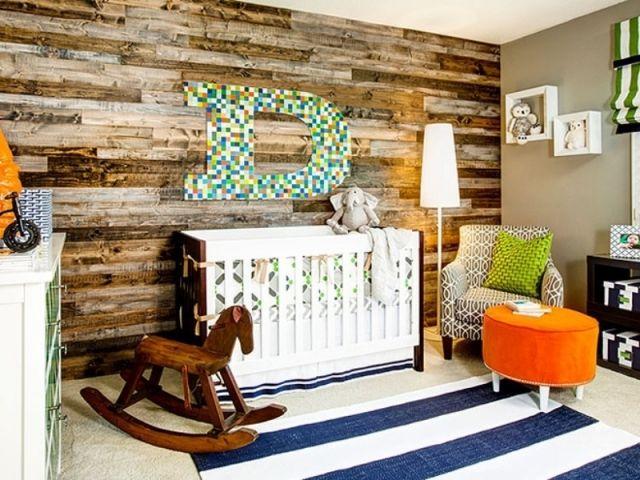 holzwand verkleidung kinderzimmer babybett sessel hocker bedroom ideas pinterest. Black Bedroom Furniture Sets. Home Design Ideas