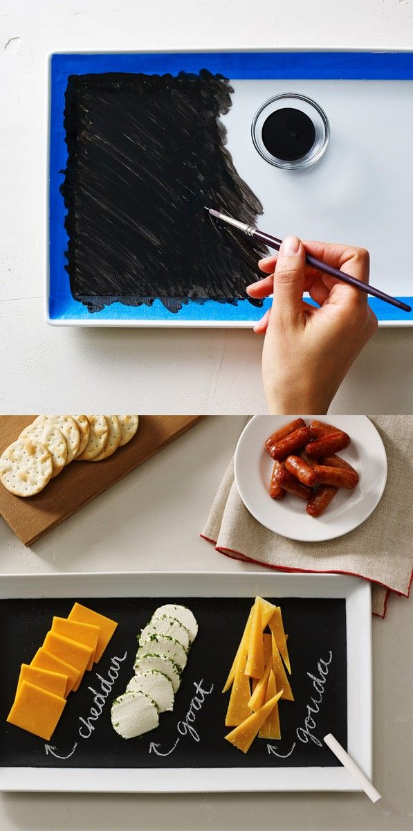 Dress Up Your Platter With Chalkboard Paint Then Lay Out A