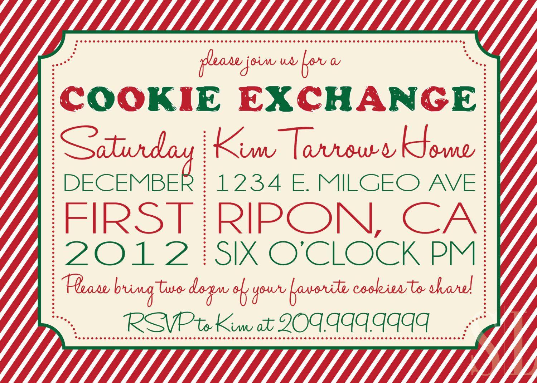 Cookie Swap, Cookie Exchange or Cookie Decorating Party Invitation ...