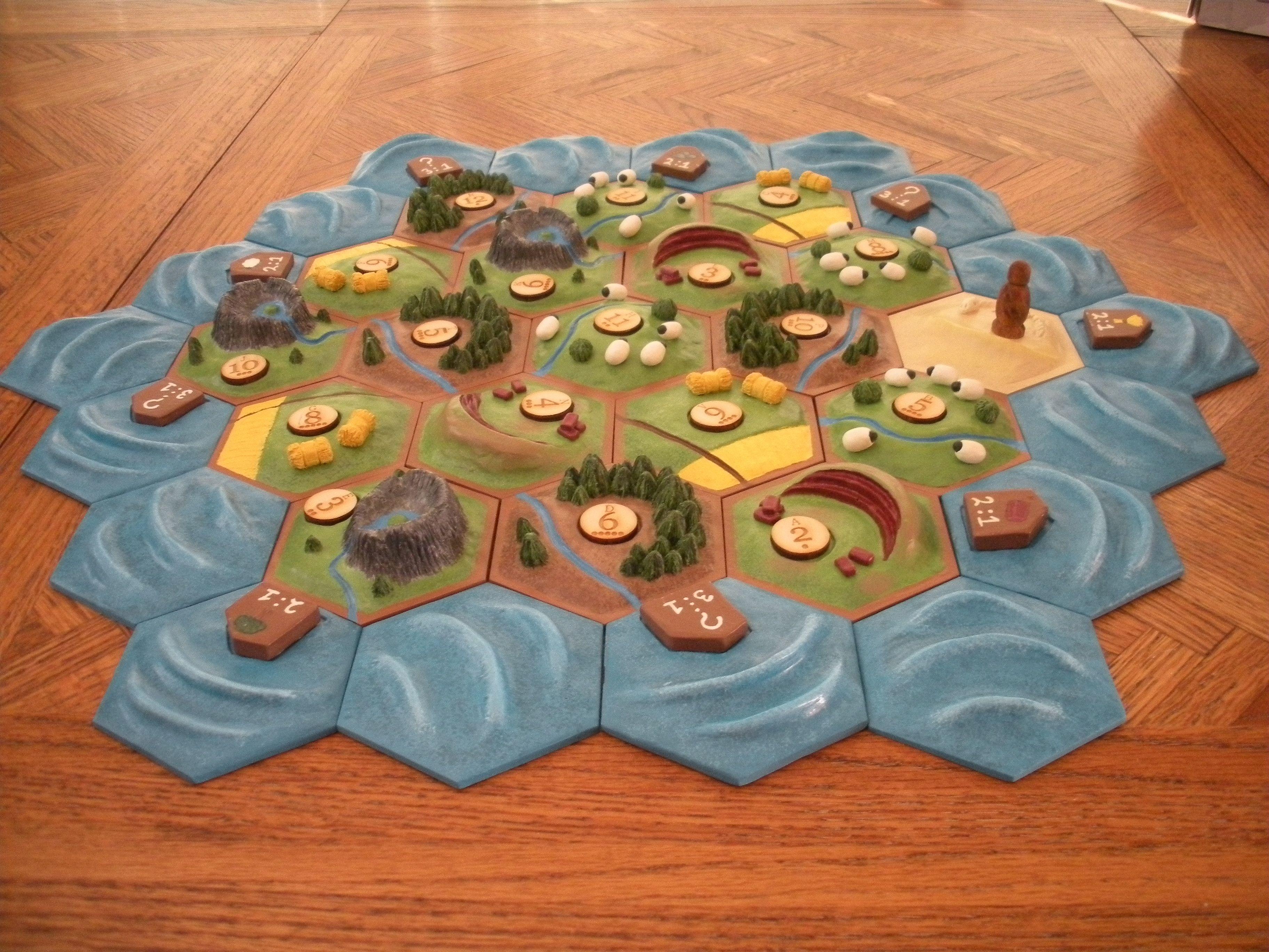 Hachi6's custom Catan board! Catan board, Settlers of
