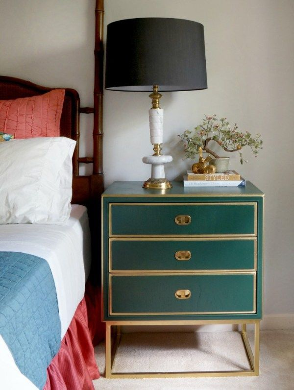 Hunter Green And Gold Night Stands Maggieoverbystutios Inspo For