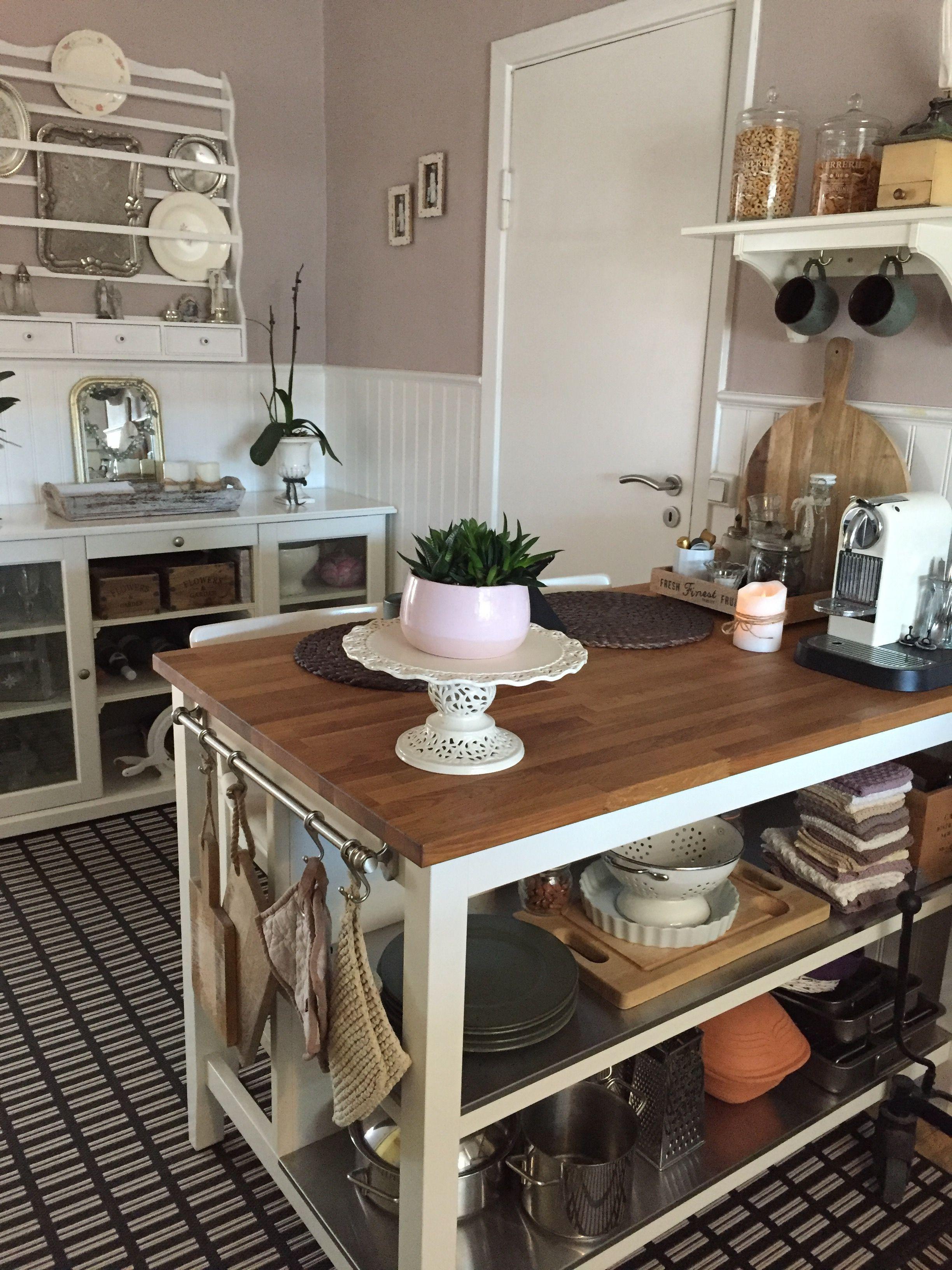 Stenstorp kitchen Island  adding hooks for towelsmitts