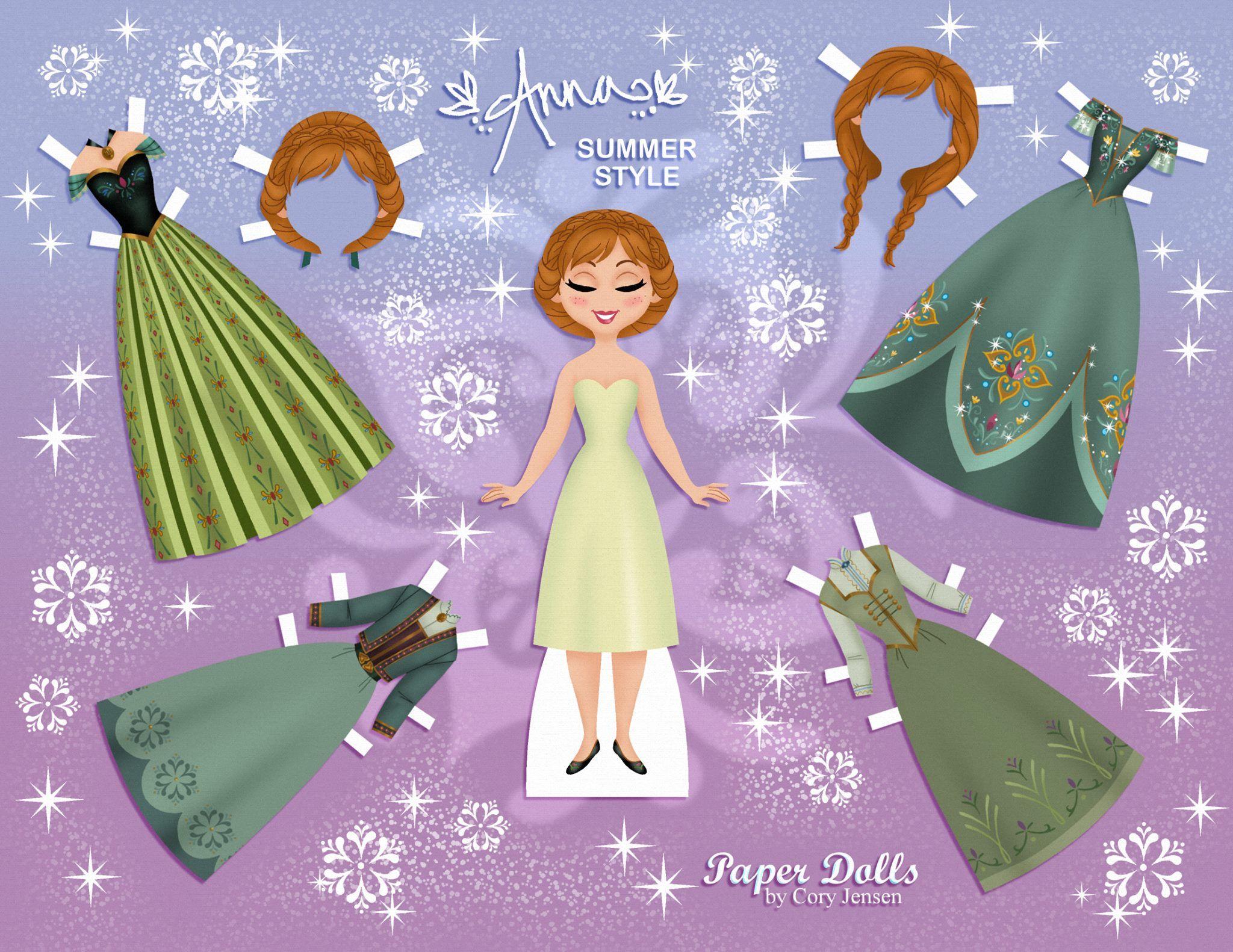 Disneys Frozen Printable Paper Dolls Frozen Paper Dolls