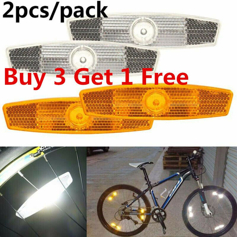 2pcs Bicycle Bike Wheel Reflectors Spoke Reflective Mount Vintage Clip XL