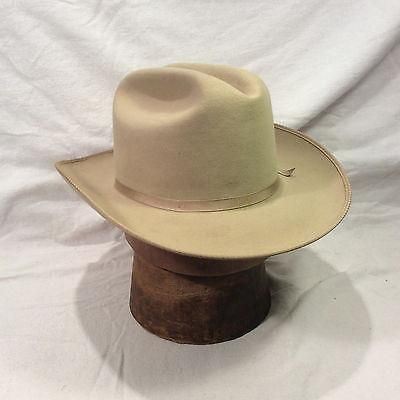 Silverbelly Stetson Hat Open Road 3X Beaver with Silverbelly Band Vintage  Hat 4050a672c32