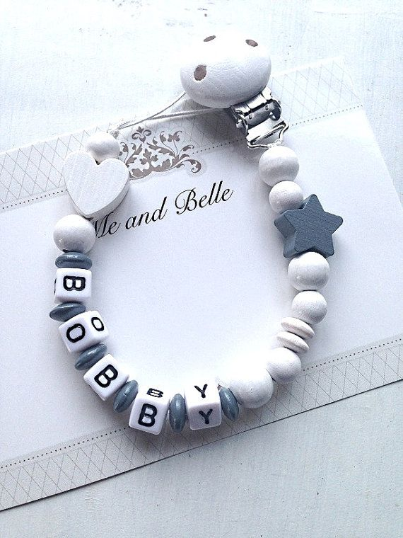Personalised Dummy Clip holder chain strap buy 2 get 1 Free