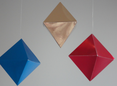 Octahedron Mobile - 2nd in Montessori Visual Mobile Series (5-8 weeks)