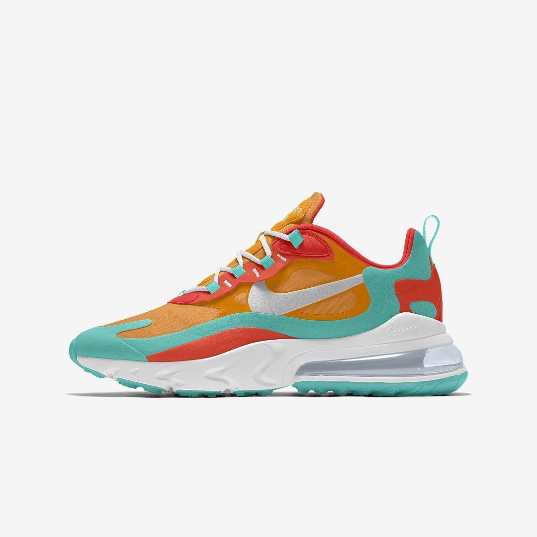 najlepsze oferty na najlepsza wyprzedaż szczegółowe zdjęcia Nike Air Max 270 React Premium By You Custom Men's Shoe ...