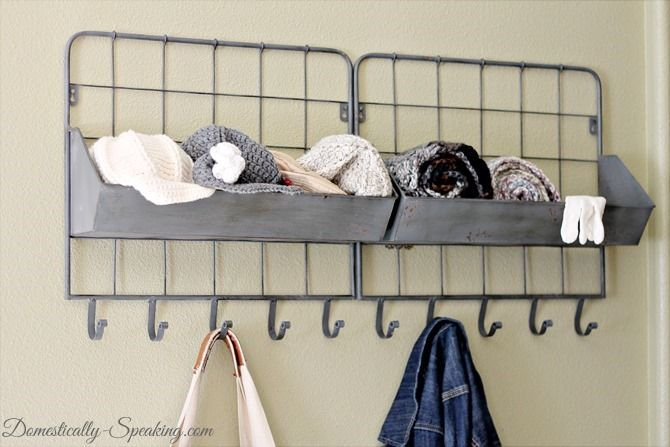 Awesome Rustic Bins And Hooks From Homegoods. Mini Mudroom   Keep It All  Organized In