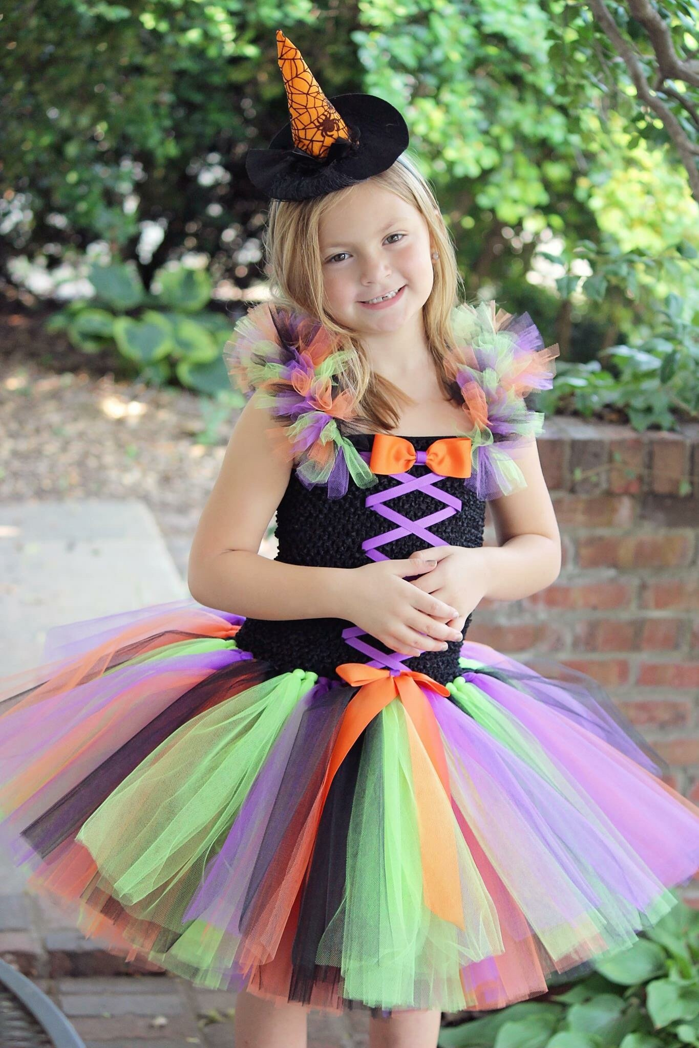 Witch Tutu, Girls Witch Dress, Witch Costume for Girls