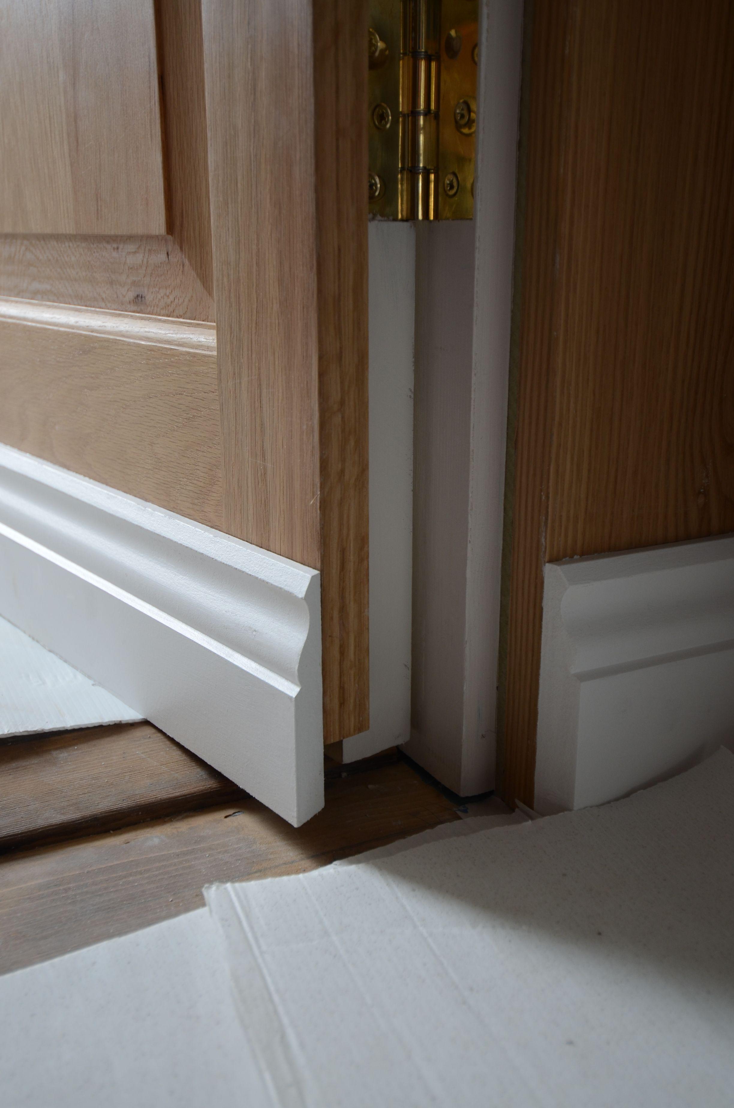 oak jib door skirting and hinge detail | jib door in 2019