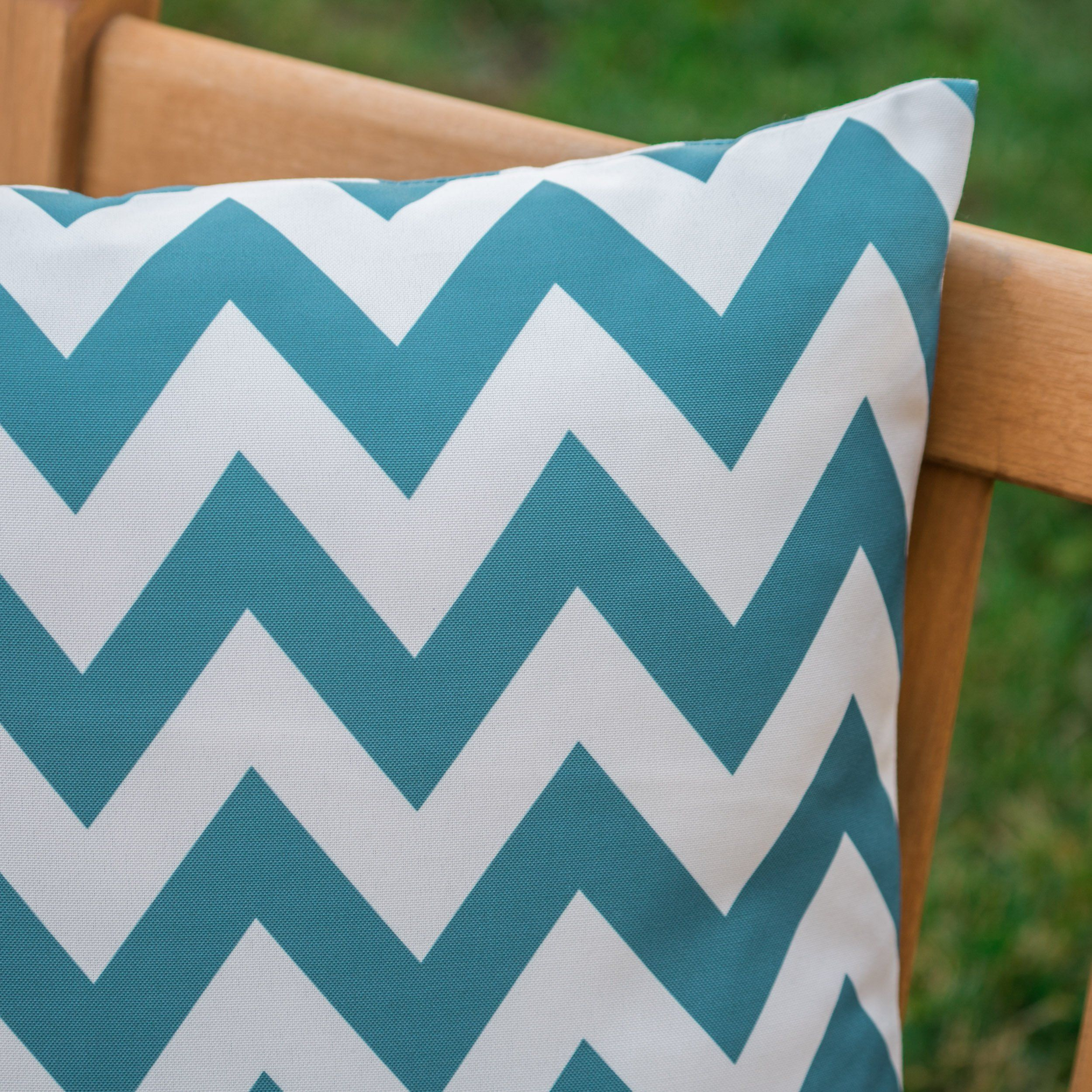 Embry Outdoor Water Resistant Square and Rectangular Pillows - Set of 4 - Orange/White