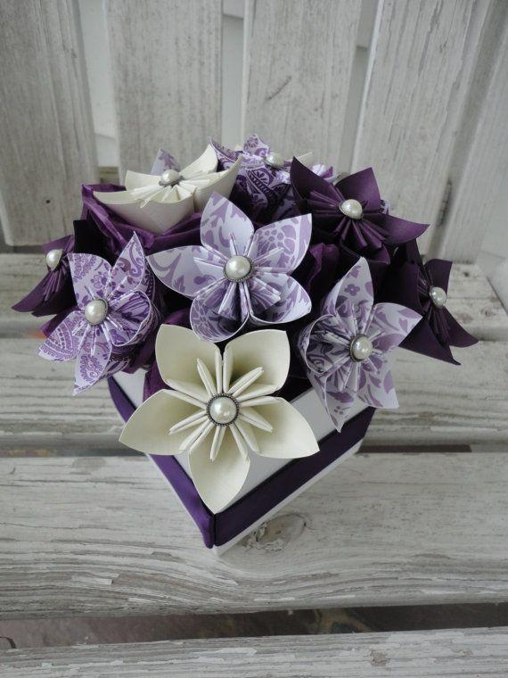 Fiori Kusudama.Origami Carta Fiore Centrotavola Viola Di Kusudama Paper Flower