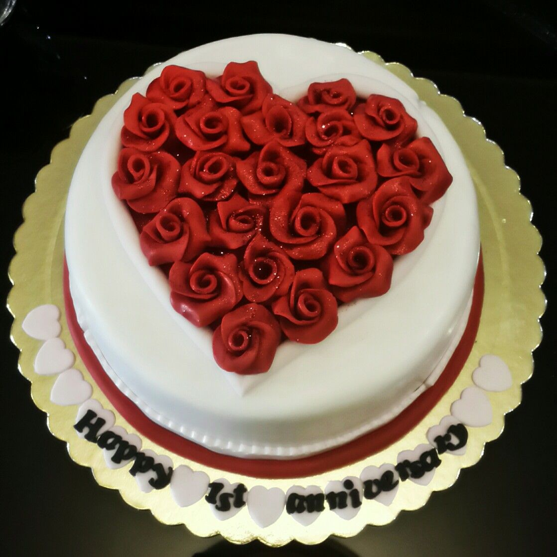 Cake Ideas For Wedding Anniversary: Anniversary Cake Designs, 1st