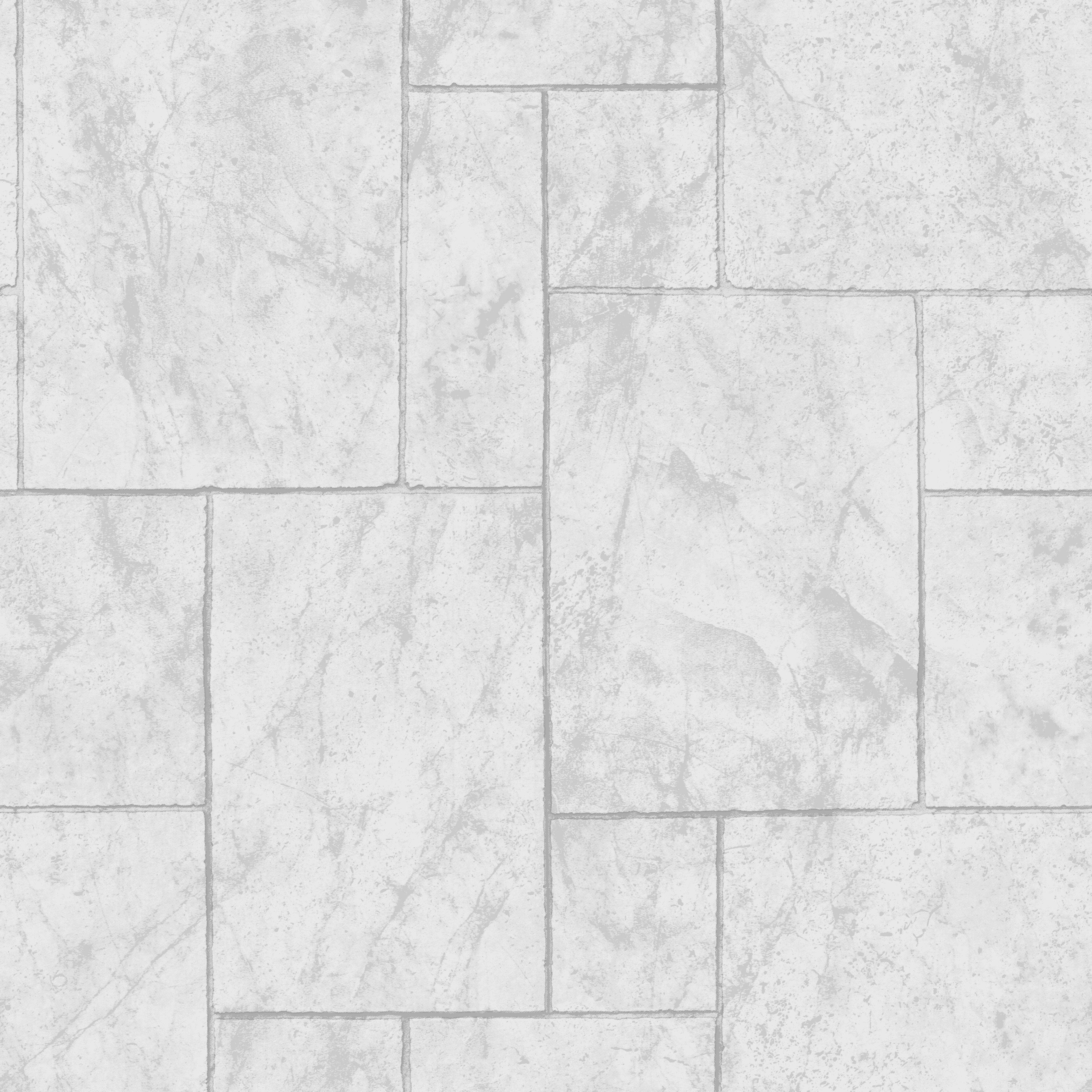 Graham Brown Contour Grey Travertine Tile Kitchen Bathroom Wallpaper