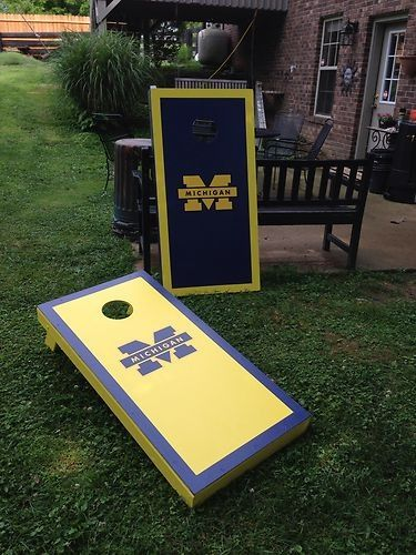 University of Michigan Cornhole Bean Bag Game | Michigan ...